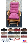 Rocking Chair Cushion Set Standard Size Micro Fiber Suede