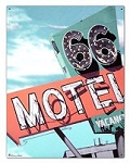 A. Ross 66 Motel Tin Sign