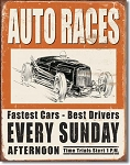 Auto Racers Tin Sign