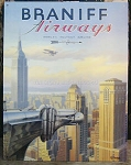Braniff Airways New York Tin Sign