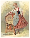 Anheuser Faust Beer Tin Sign