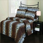Twin Leopard Skin Print Sheet Set