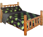 Queen Marijuana Pot Leaf Reversible Comforter