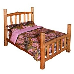 The Woods Camo Microfiber Full/Queen Pink Comforter