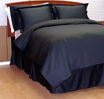 8 Piece Black Woven Dots Egyptian Cotton Down Alternative Bed In A Bag