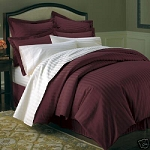 Burgundy Stripe 8 Piece 600 Thread Count Egyptian Cotton Bed In A Bag