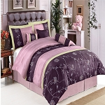 Grand Park Purple 7 Piece Comforter Set