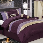 Sonata Purple 7 Piece Comforter Set