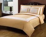 Gold And White Hotel Egyptian Cotton Down Alternative Bed In A Bag