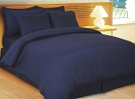 Navy Stripe 8 Piece 600 Thread Count Egyptian Cotton Bed In A Bag