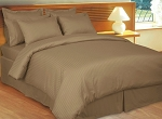 Taupe Stripe 8 Piece 600 Thread Count Egyptian Cotton Bed In A Bag