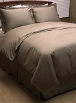 8 Piece Taupe Woven Dots Egyptian Cotton Down Alternative Bed In A Bag