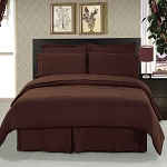 Solid Chocolate 8 Piece Soft Microfiber Bedding Set