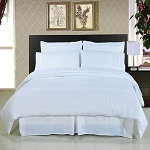 Solid White 8 Piece Soft Microfiber Bedding Set