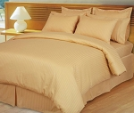 Gold Damask Stripe 600 Thread Count Egyptian Cotton Down Alternative Comforter Set