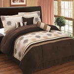 Grace Coffee 7 Piece Microsuede Comforter Set