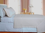 Ivory Checkered Egyptian Cotton 400 Thread Count Coverlet Set