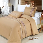 Cecilia Embroidered King/California King Egyptian Cotton 3 Piece Duvet Cover Set
