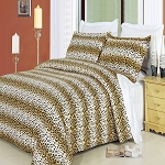 Cheetah Full/Queen Egyptian Cotton 300 Thread Count 3 Piece Duvet Cover Set