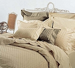 3 Piece Full/Queen Checkered 300 Thread Count Egyptian Cotton Duvet Cover Set