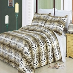 Safari Full/Queen Egyptian Cotton 300 Thread Count 3 Piece Duvet Cover Set