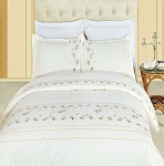 Tasneen Embroidered King/California King Egyptian Cotton 3 Piece Duvet Cover Set