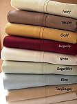 Full Or Double Size 300 Thread Count Egyptian Cotton Sheets Solid Color