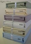 King Waterbed Size Unattached 300 Thread Count Percale Egyptian Cotton Sheets Solid