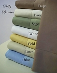 Pair Of Solid 100% Bamboo Cotton Standard Size Pillowcases