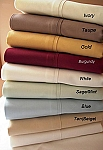 Twin Size 300 Thread Count Egyptian Cotton Sheets Solid