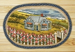 Oval Art Patch Beach House Braided Earth Rug®