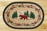 Oval Art Patch Bear Woods Braided Earth Rug®