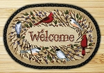 Oval Art Patch Birdsong Welcome Braided Earth Rug®