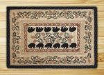 Rectangle Hand Printed Black Bear Braided Earth Rug®