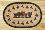 Oval Art Patch Boots Braided Earth Rug®