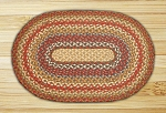 Oval Honey Vanilla and Ginger Jute Braided Earth Rug®