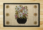 Wicker Weave Hand Print Petal Perfect Jute Braided Earth Rug®