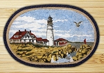 Oval Art Patch Portland Headlight Braided Earth Rug®