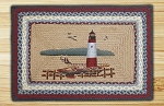 Rectangle Print Patch Lighthouse Braided Earth Rug®