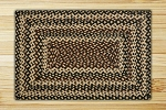 Rectangle Ebony Ivory and Chocolate Jute Braided Earth Rug®
