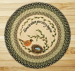 Round 27 Inch Print Patch Robins Nest Braided Earth Rug®