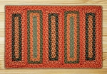 Rectangle Soft Patch Burgundy Copper and Sage Jute Braided Earth Rug®