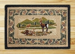 Rectangle Hand Printed White Tail Deer Braided Earth Rug®