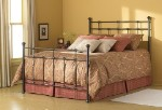 Dexter Bed Set With Frame Hammered Brown