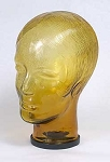 Glass Mannequin Head Amber Lady