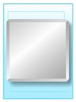 Square Frameless Mirror 18