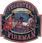 Volunteer Fireman Metal Sign