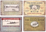 River Advertising Metal Signs Set of 4