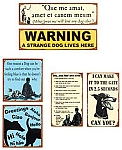 Man's Best Friend Metal Signs Set of 6