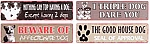 The Dogs Metal Signs Set of 4